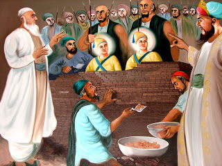 Sahibzaadey being bricked alive