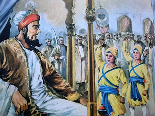 Young Sahibzaadey in Wazir Khan's Court